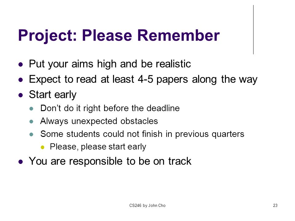 Project: Please Remember