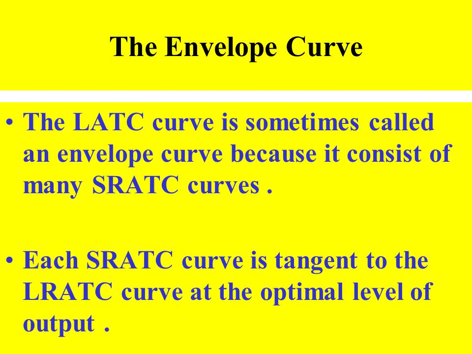 The Envelope Curve The LATC curve is sometimes called an envelope curve because it consist of many SRATC curves .