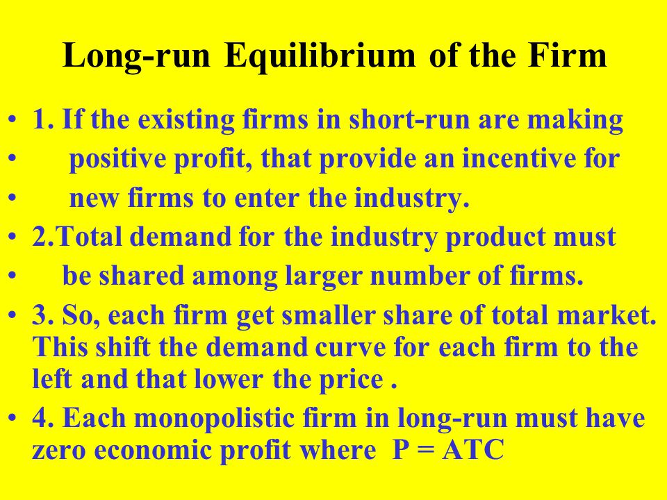 Long-run Equilibrium of the Firm