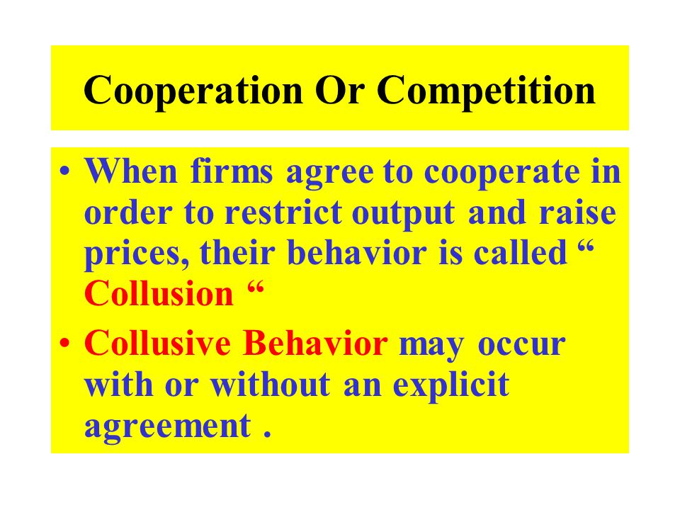 Cooperation Or Competition