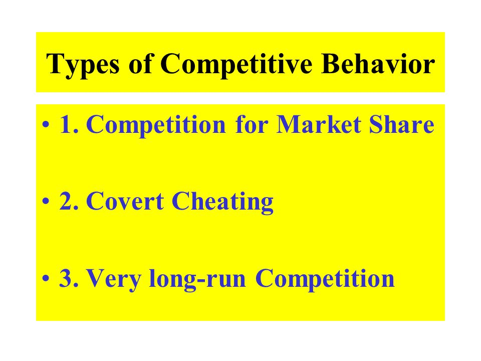 Types of Competitive Behavior