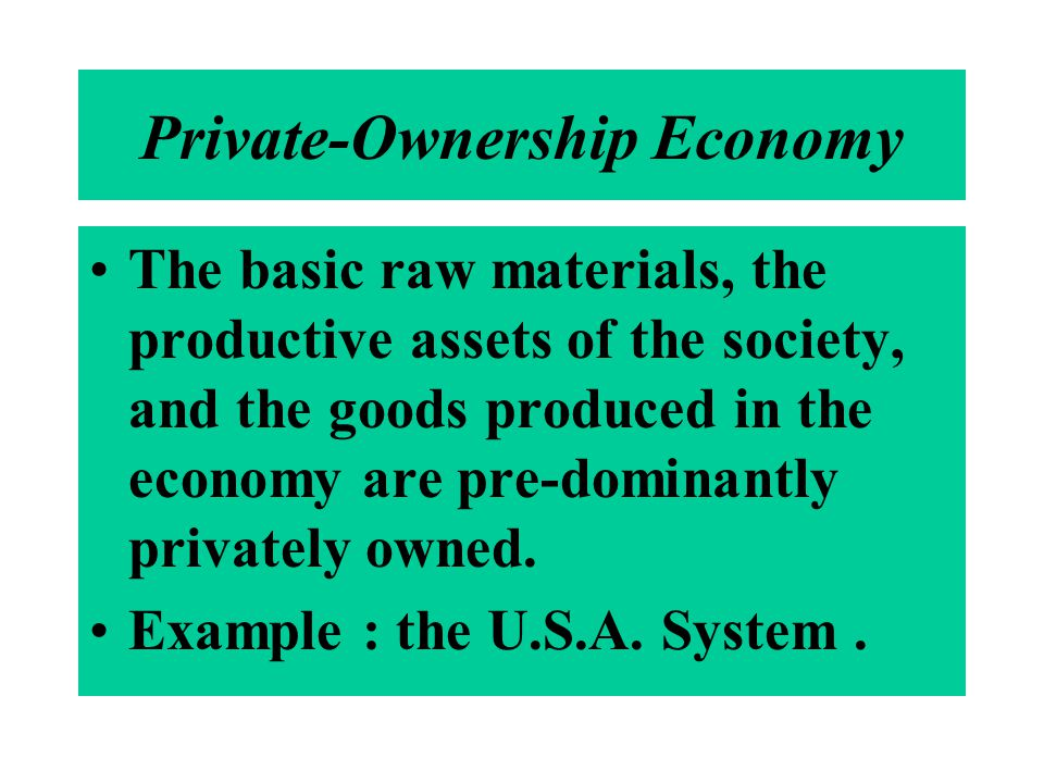 Private-Ownership Economy