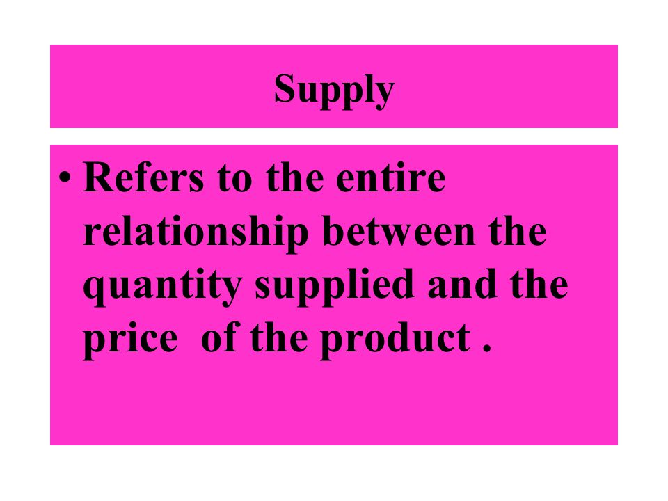 federalism refers to the relationship between supply and demand