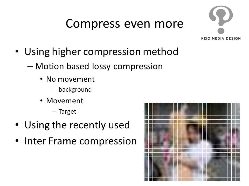 Compress even more Using higher compression method