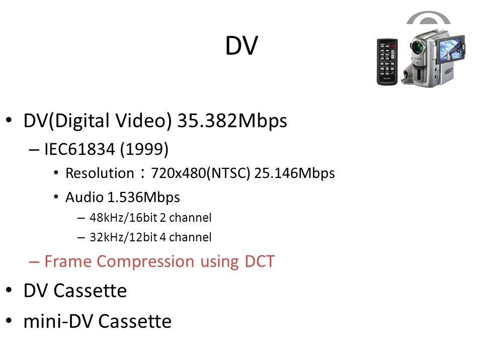 DV DV(Digital Video) 35.382Mbps DV Cassette mini-DV Cassette