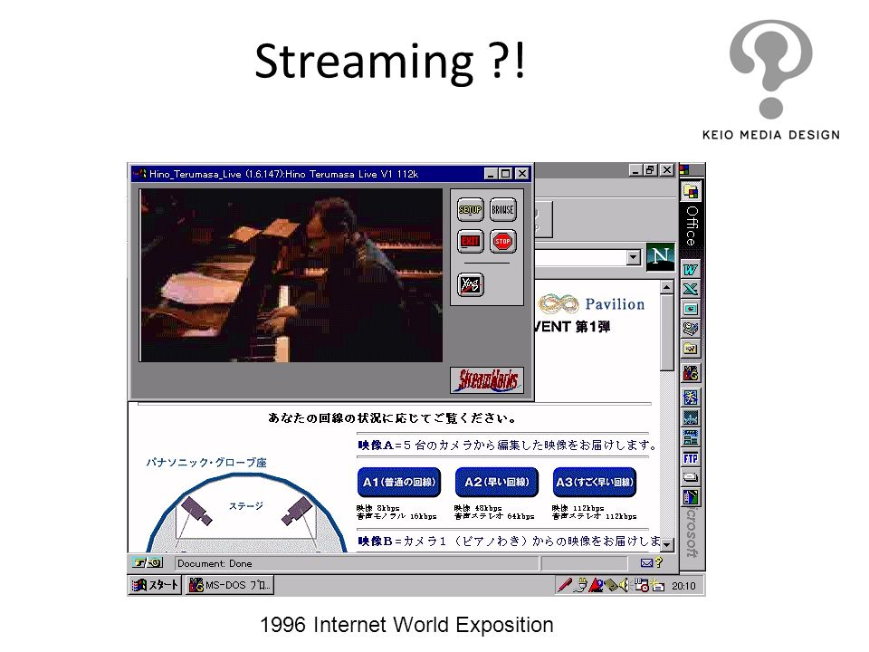 Streaming ! 1996 Internet World Exposition
