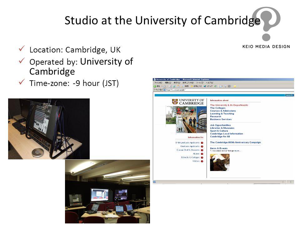Studio at the University of Cambridge