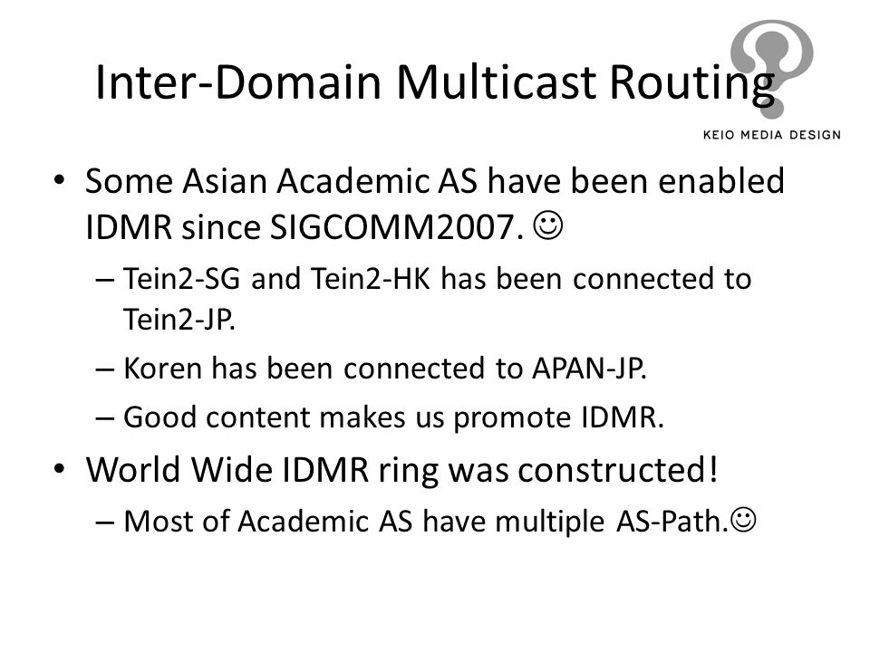 Inter-Domain Multicast Routing