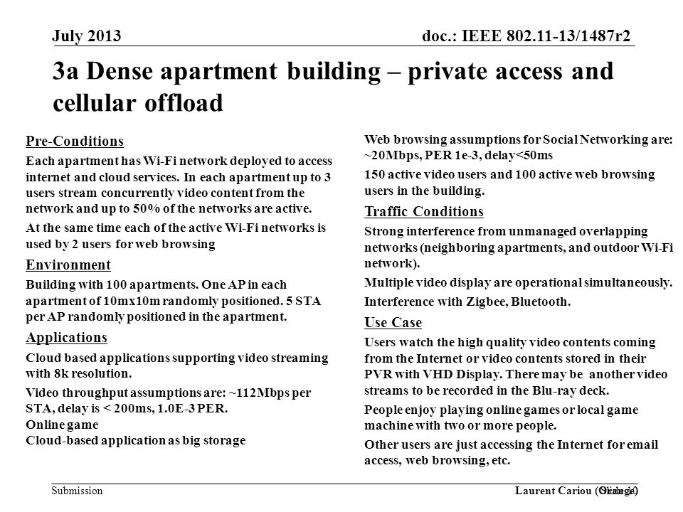 3a Dense apartment building – private access and cellular offload