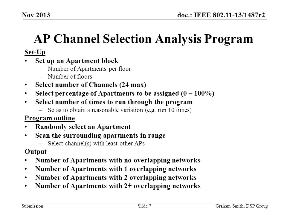 AP Channel Selection Analysis Program