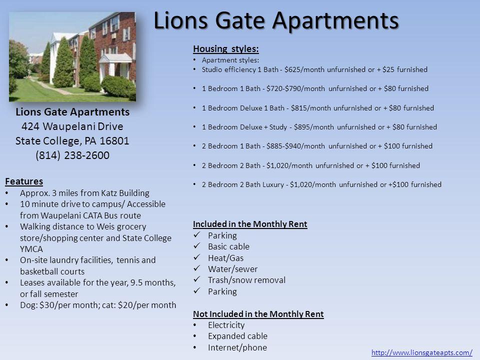 424 Waupelani Drive State College, PA 16801 (814) 238-2600