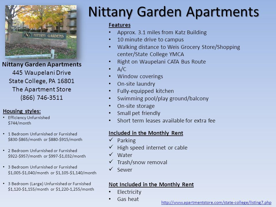 Nittany Garden Apartments
