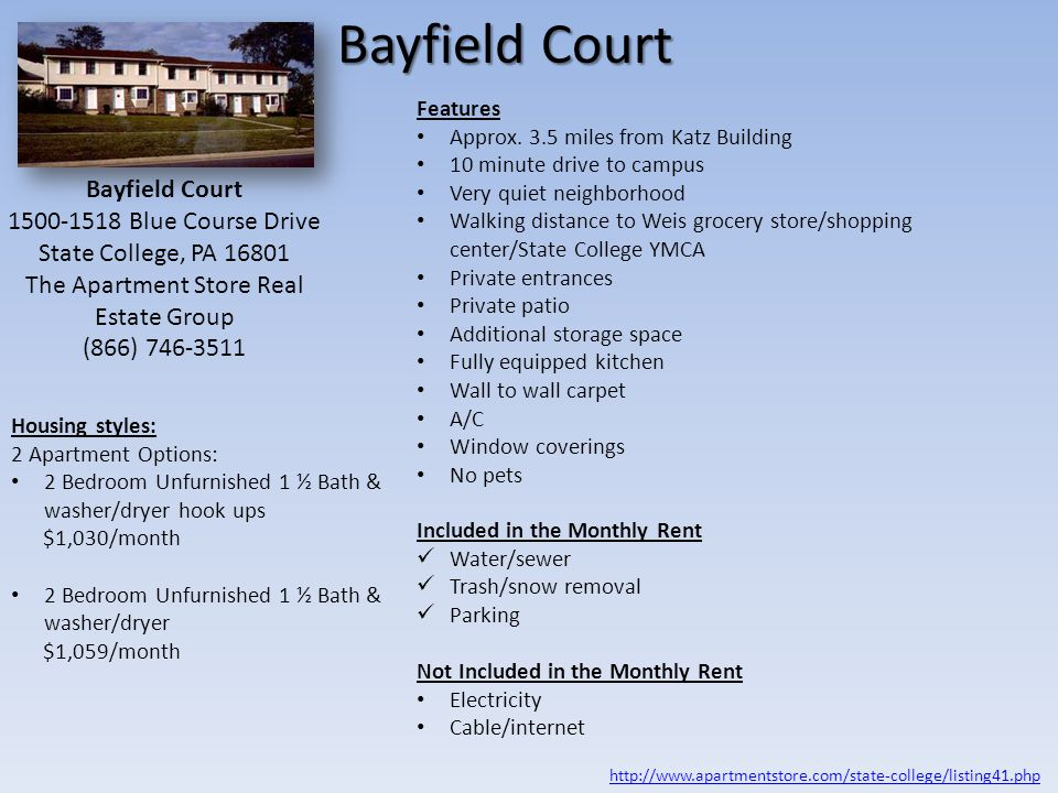 Psu law student housing options state college pa ppt - 3 bedroom apartments state college pa ...