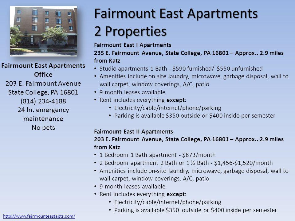 Fairmount East Apartments 2 Properties