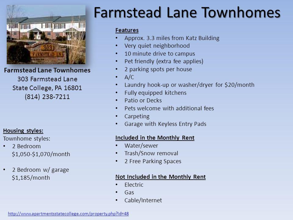 Farmstead Lane Townhomes