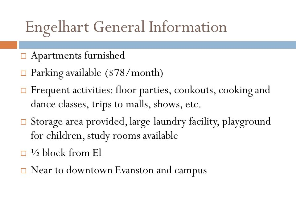 Engelhart General Information