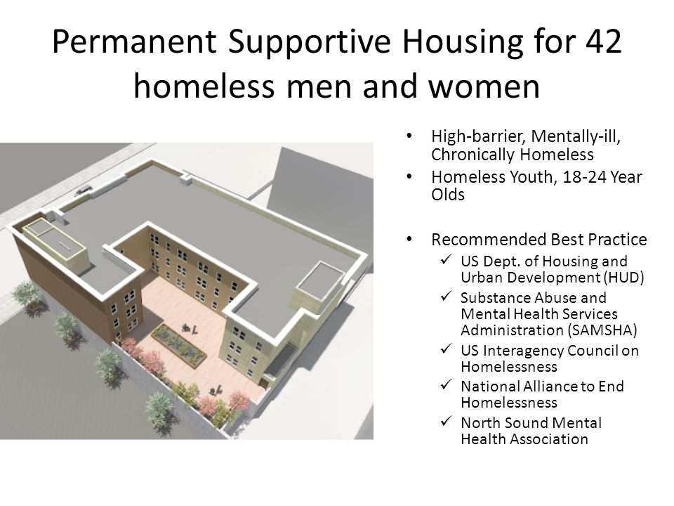 Permanent Supportive Housing for 42 homeless men and women