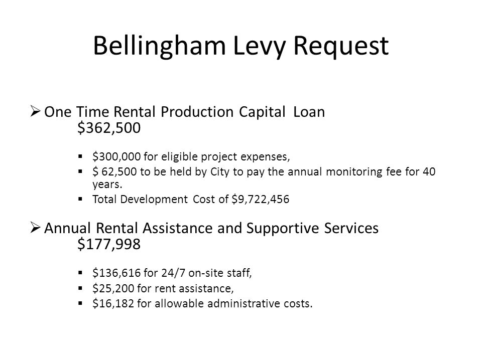 Bellingham Levy Request