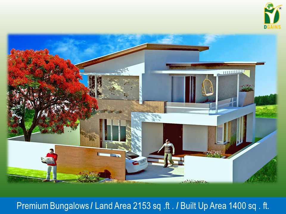 Premium Bungalows / Land Area 2153 sq .ft . / Built Up Area 1400 sq . ft.