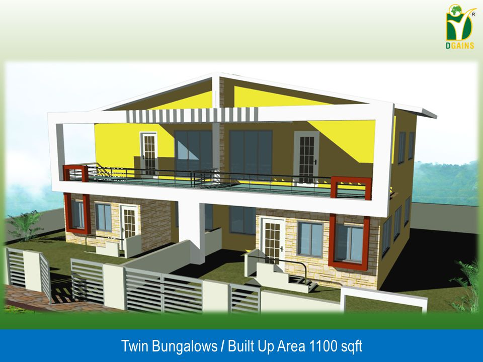 Twin Bungalows / Built Up Area 1100 sqft