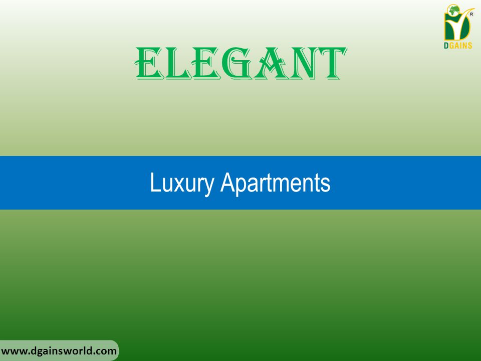 Elegant Luxury Apartments www.dgainsworld.com
