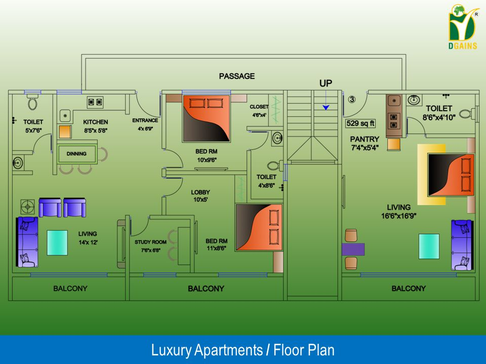 Luxury Apartments / Floor Plan