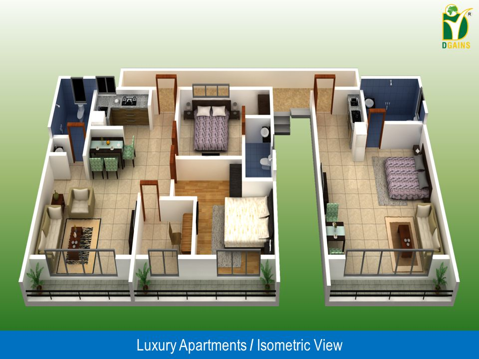 Luxury Apartments / Isometric View