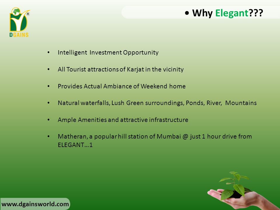 • Why Elegant Intelligent Investment Opportunity