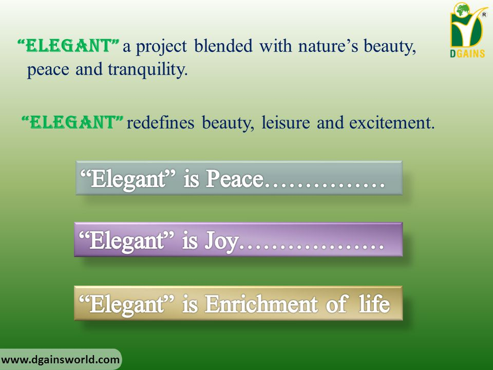 Elegant is Peace……………
