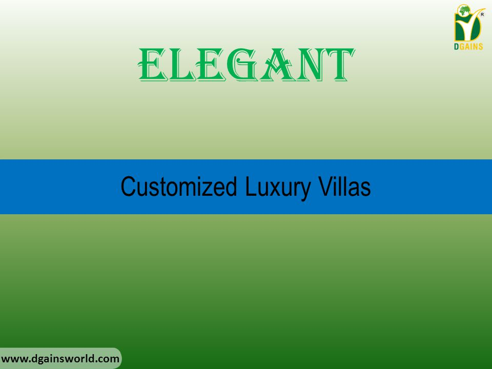Customized Luxury Villas