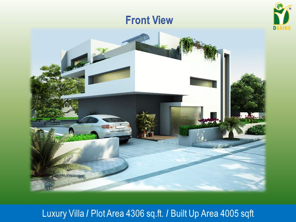 Luxury Villa / Plot Area 4306 sq.ft. / Built Up Area 4005 sqft