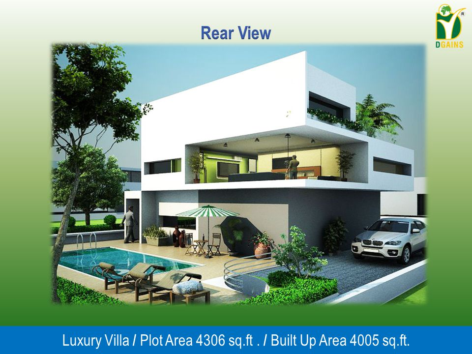 Luxury Villa / Plot Area 4306 sq.ft . / Built Up Area 4005 sq.ft.