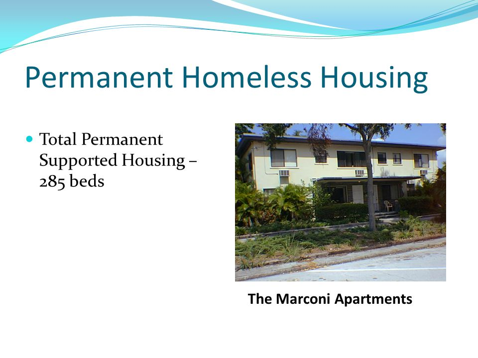 Permanent Homeless Housing