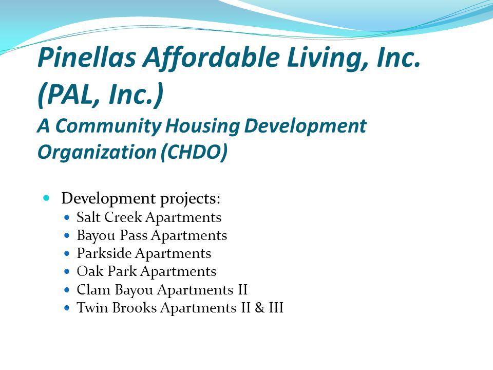 Pinellas Affordable Living, Inc. (PAL, Inc