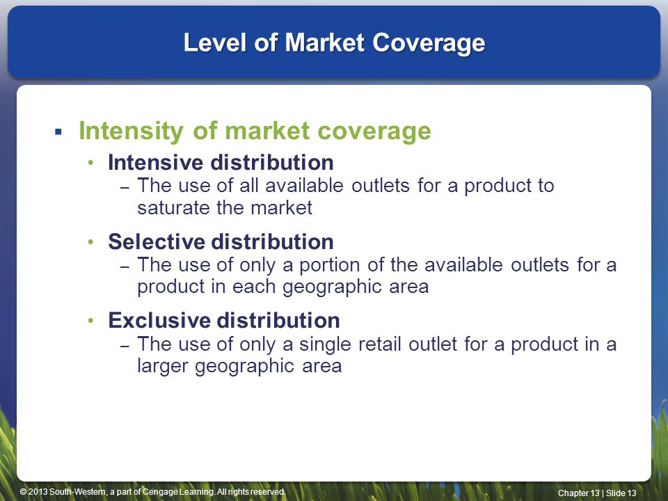 Level of Market Coverage