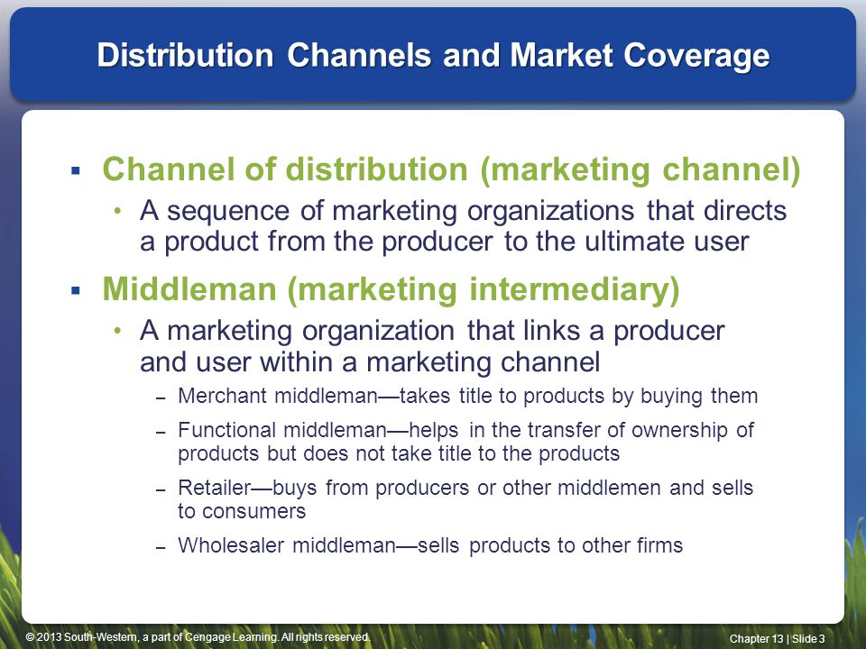 Distribution Channels and Market Coverage