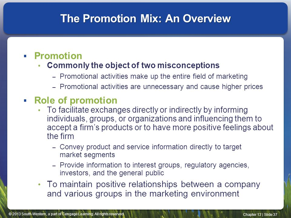 The Promotion Mix: An Overview