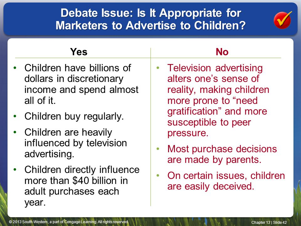 Debate Issue: Is It Appropriate for Marketers to Advertise to Children
