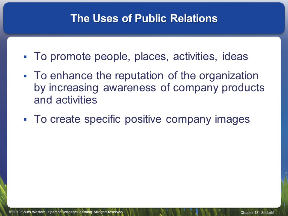 The Uses of Public Relations