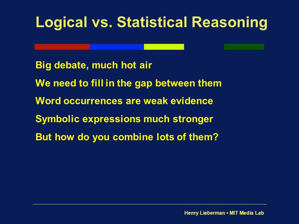 Logical vs. Statistical Reasoning