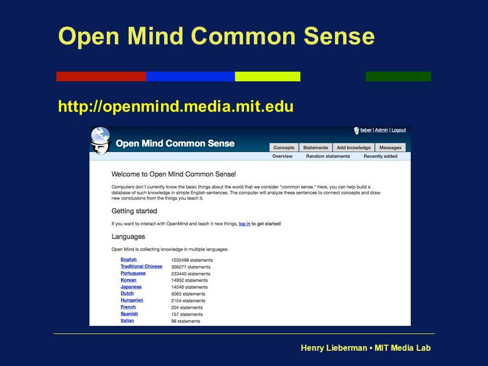 Open Mind Common Sense http://openmind.media.mit.edu