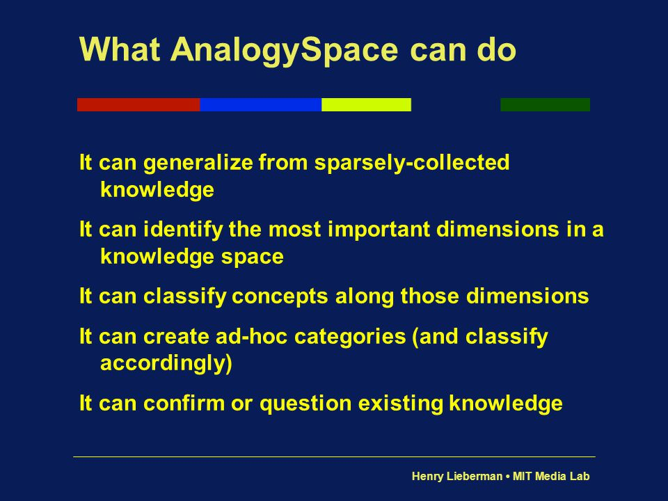 What AnalogySpace can do
