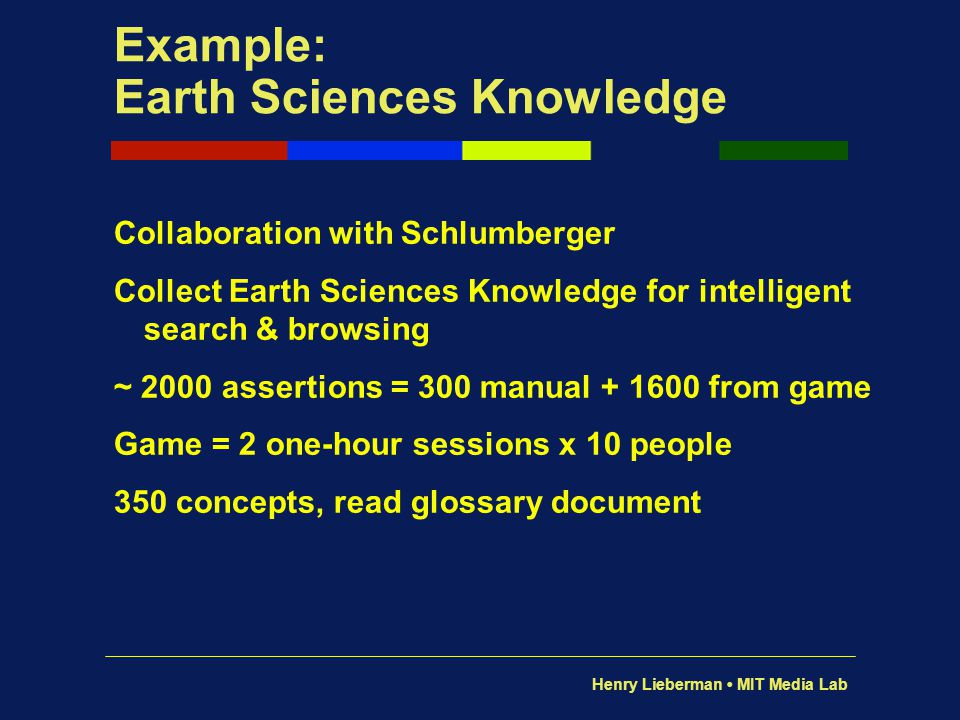 Example: Earth Sciences Knowledge