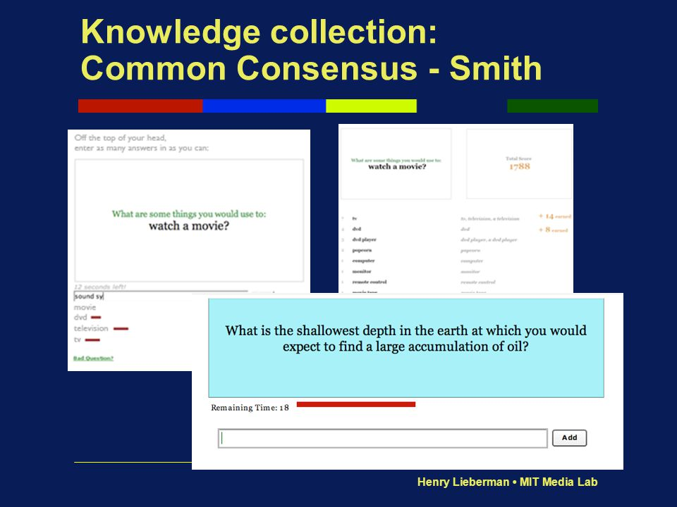 Knowledge collection: Common Consensus - Smith