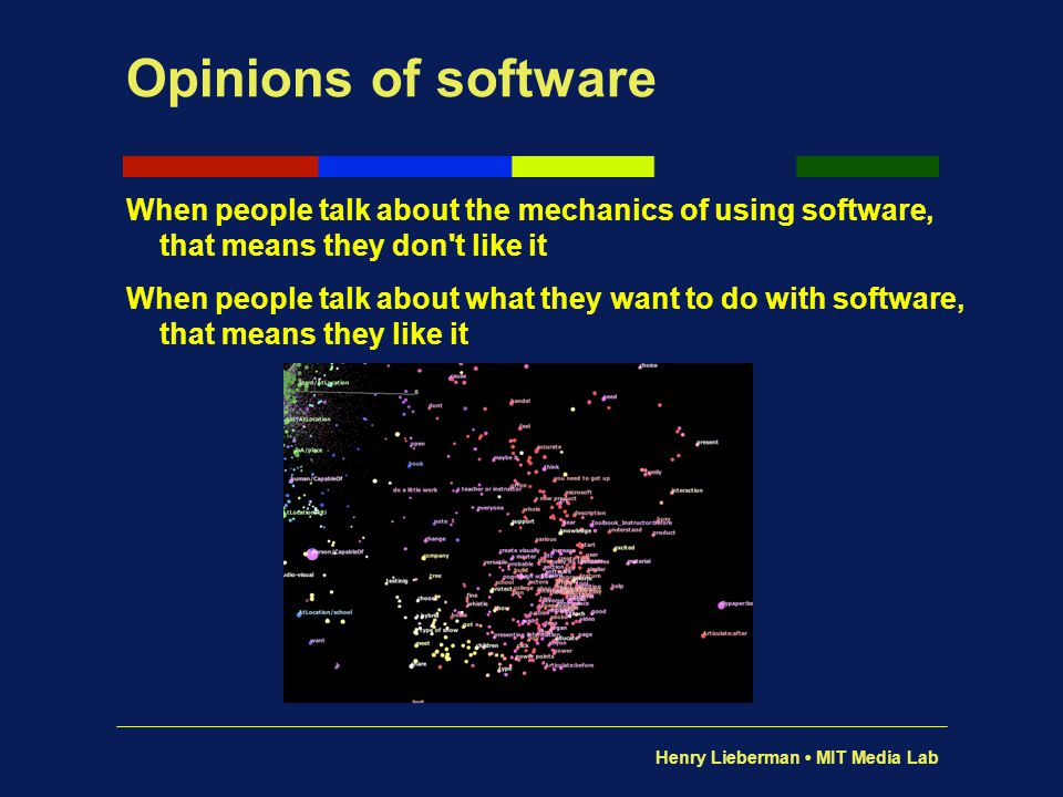 Opinions of software When people talk about the mechanics of using software, that means they don t like it.