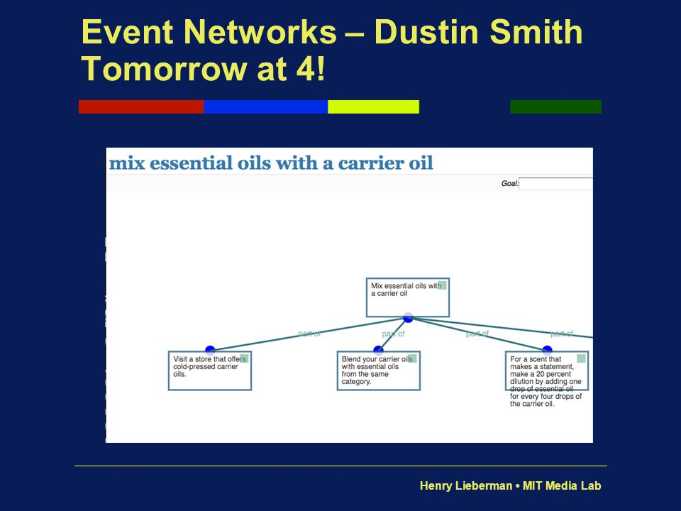 Event Networks – Dustin Smith Tomorrow at 4!
