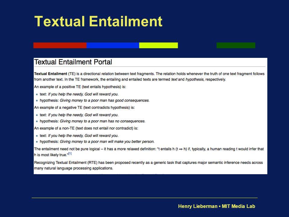 Textual Entailment Yow!
