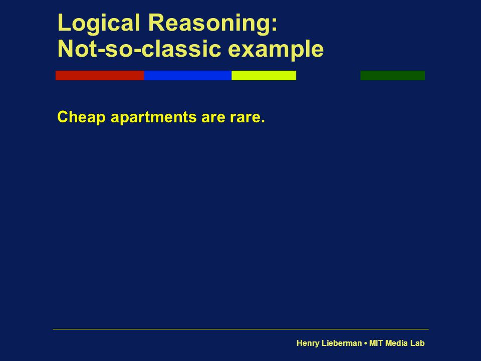 Logical Reasoning: Not-so-classic example