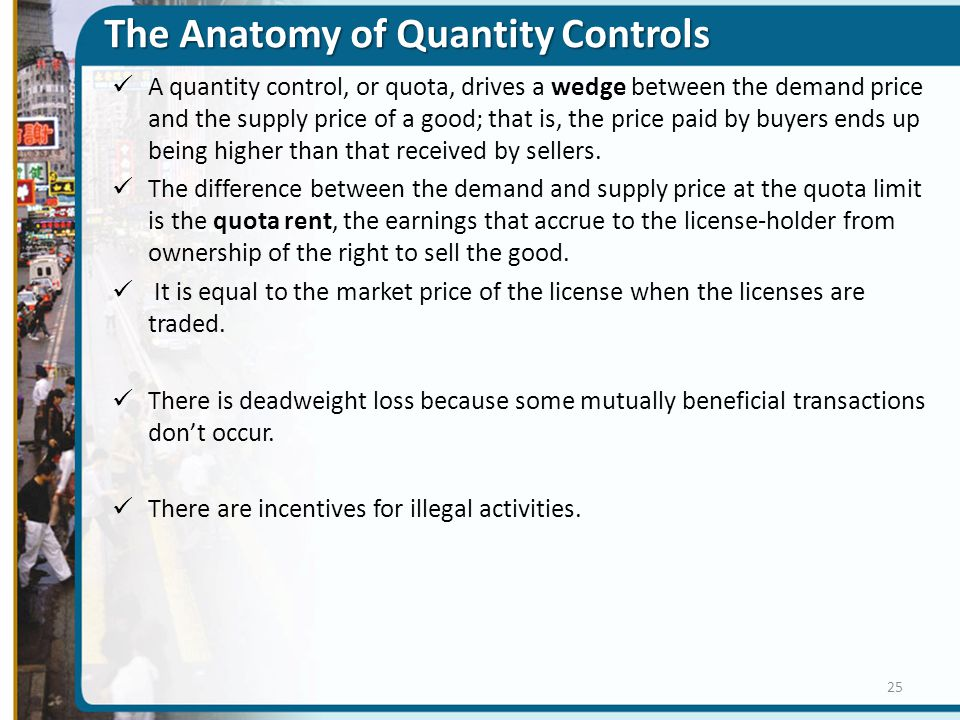 The Anatomy of Quantity Controls