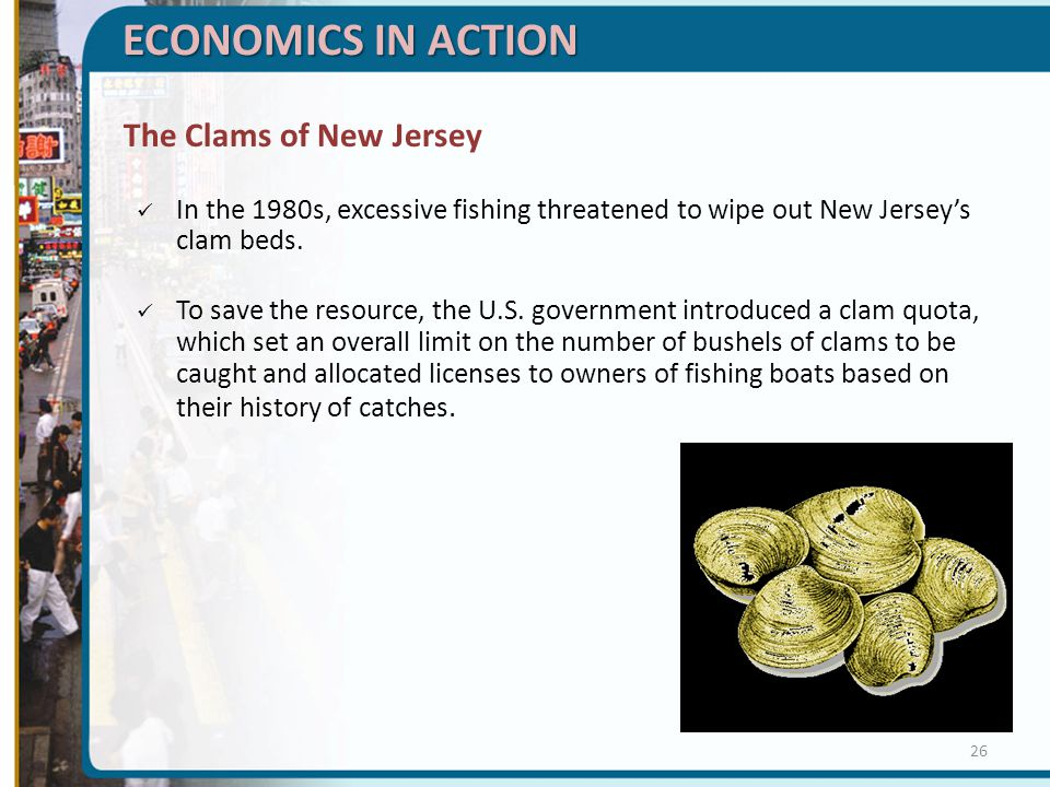 ECONOMICS IN ACTION The Clams of New Jersey